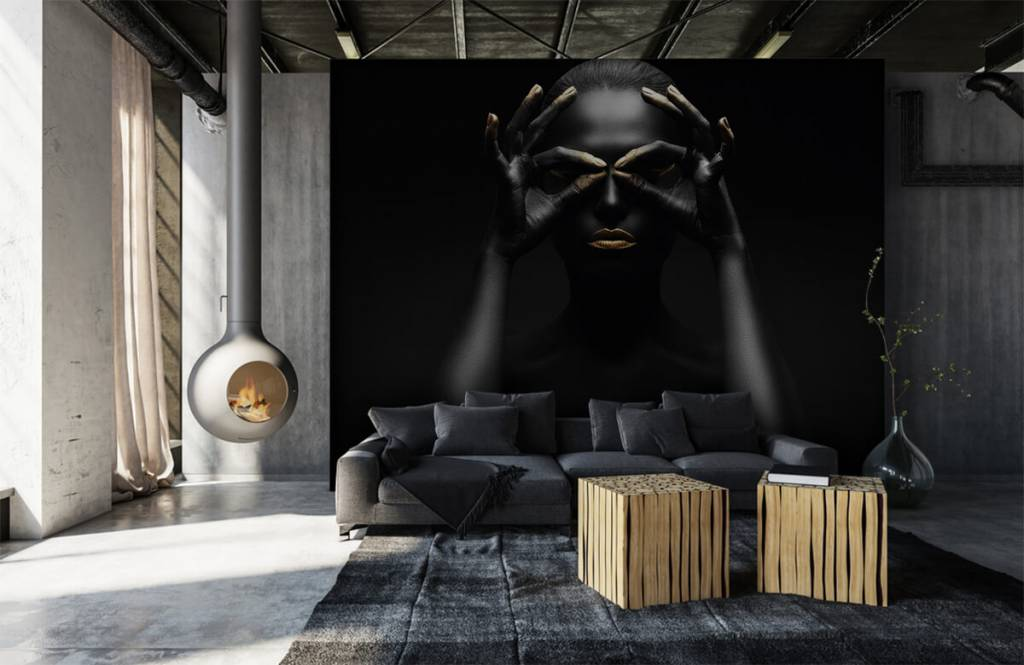 Portets and faces - Black painted woman - Living room 5