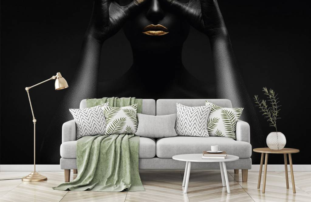Portets and faces - Black painted woman - Living room 6
