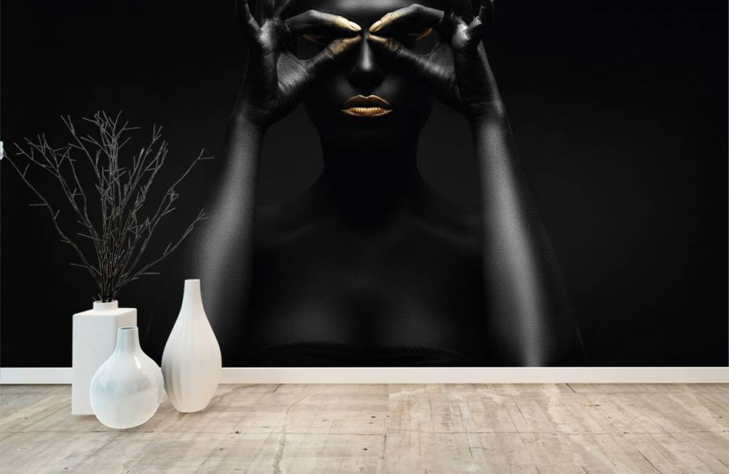 Portets and faces - Black painted woman - Living room 7
