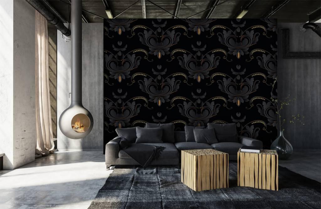 Baroque wallpaper - Black gold baroque pattern - Bedroom 2
