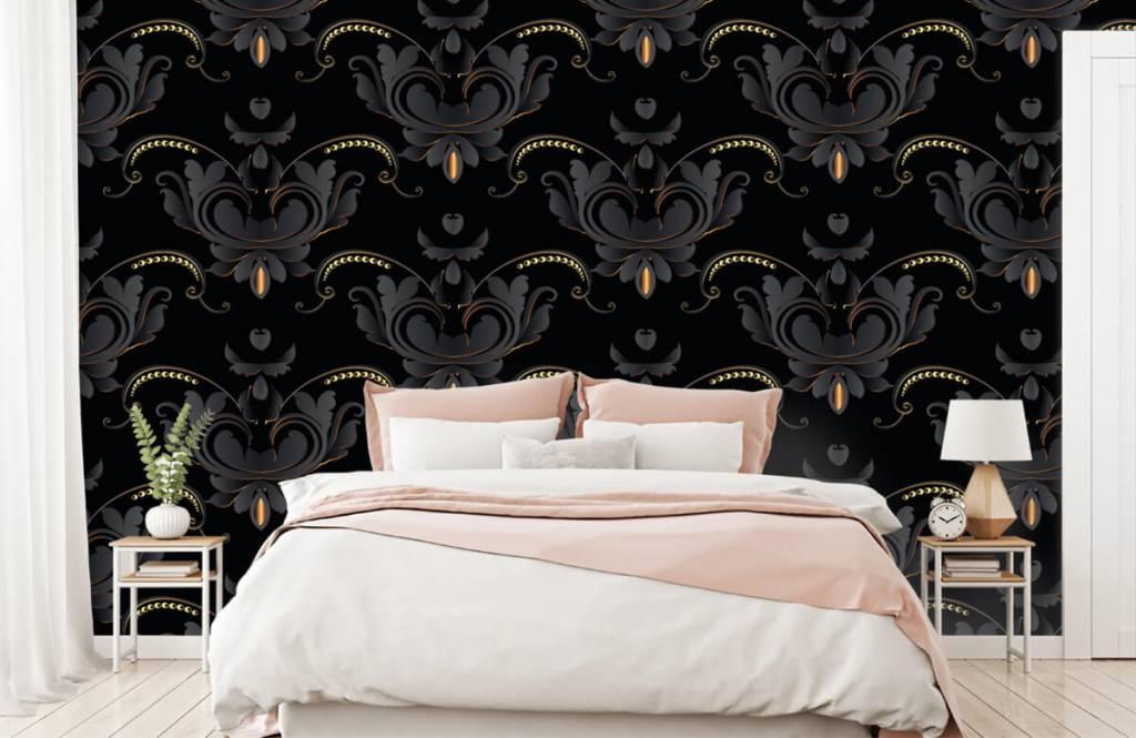 Baroque wallpaper - Black gold baroque pattern - Bedroom 3