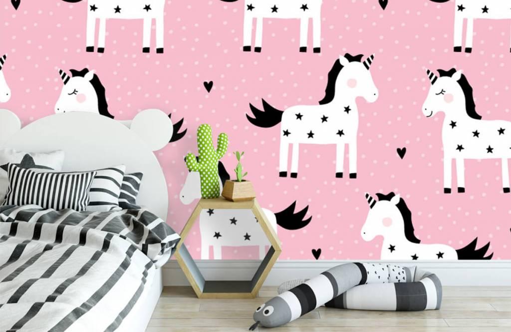 Horses - Unicorn pattern - Children's room 2