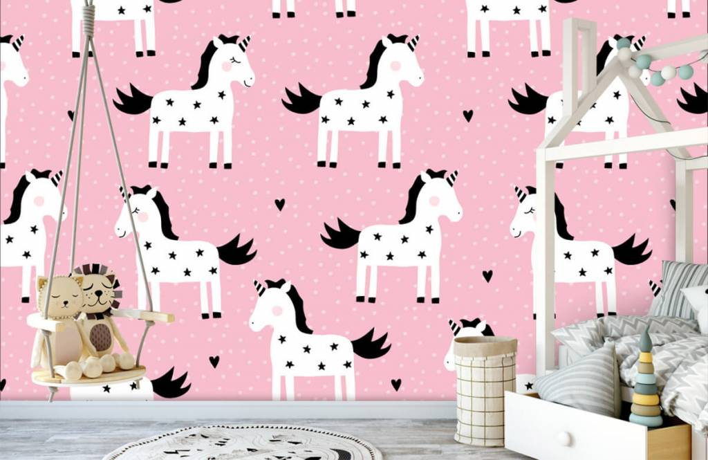 Horses - Unicorn pattern - Children's room 3