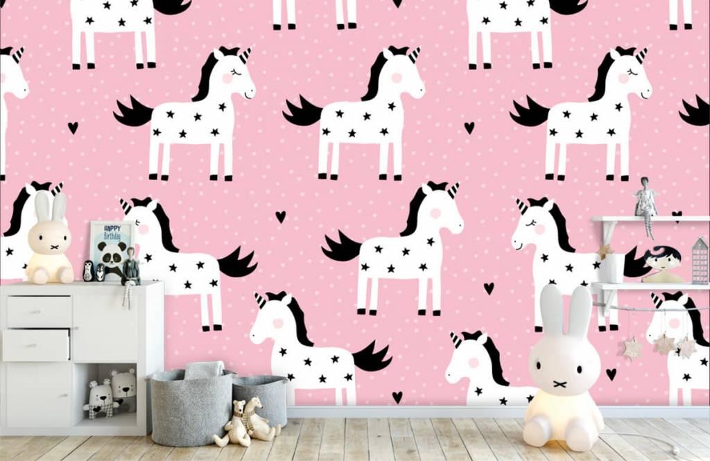 Horses - Unicorn pattern - Children's room 4