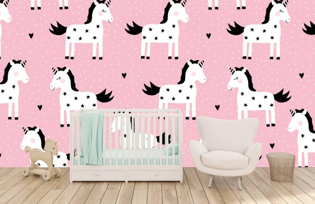 Horses - Unicorn pattern - Children's room 5