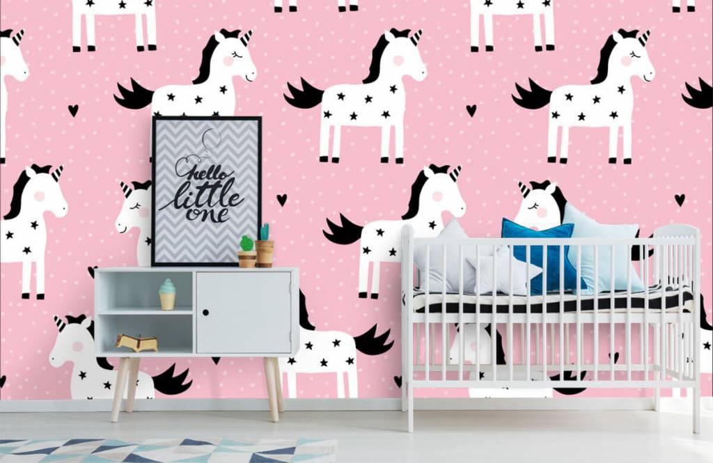 Horses - Unicorn pattern - Children's room 6