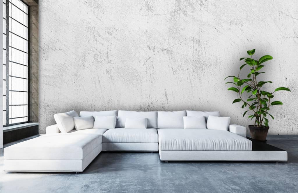 Concrete look wallpaper - Sanded concrete - Living room 1