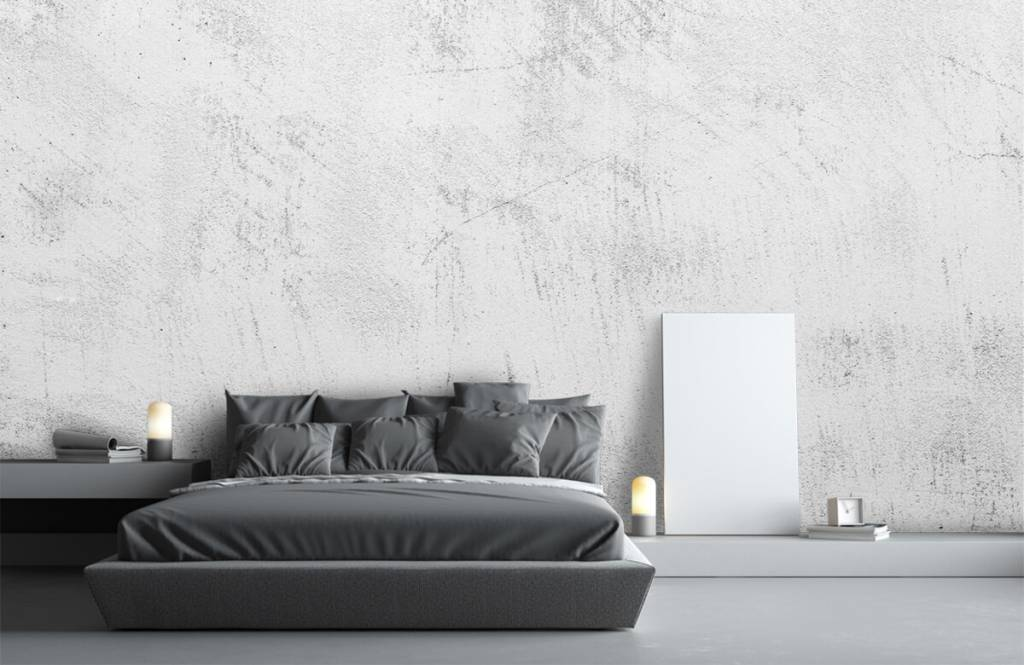Concrete look wallpaper - Sanded concrete - Living room 2