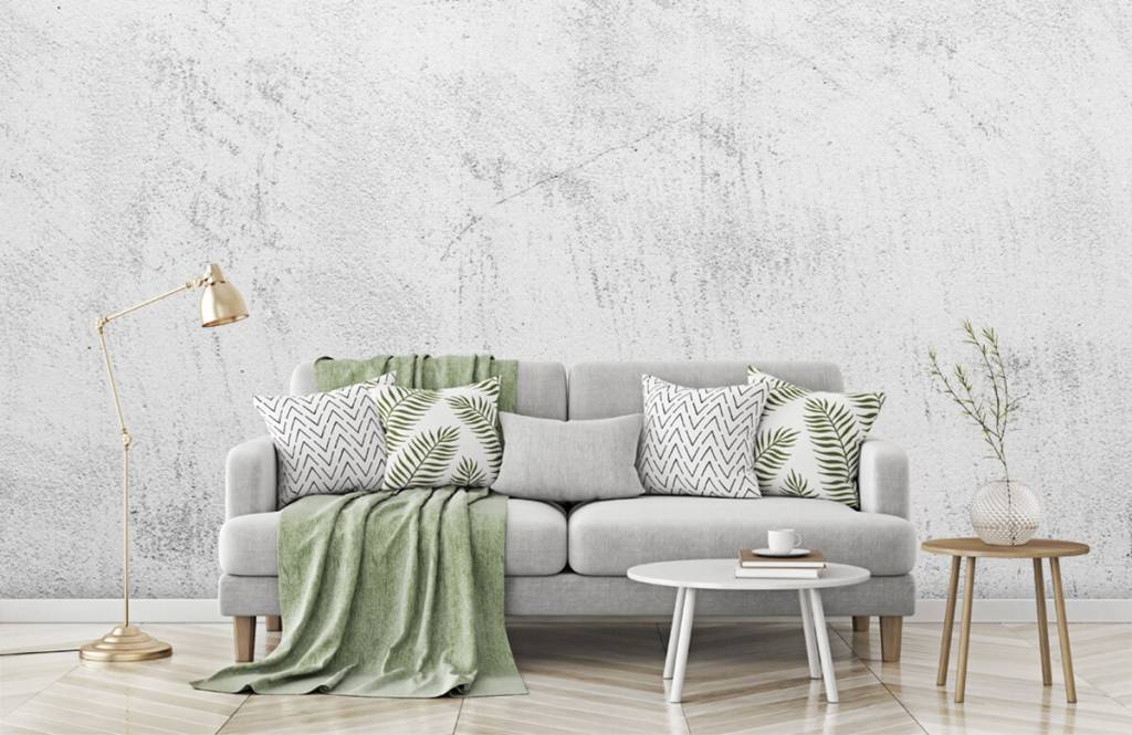 Concrete look wallpaper - Sanded concrete - Living room 7