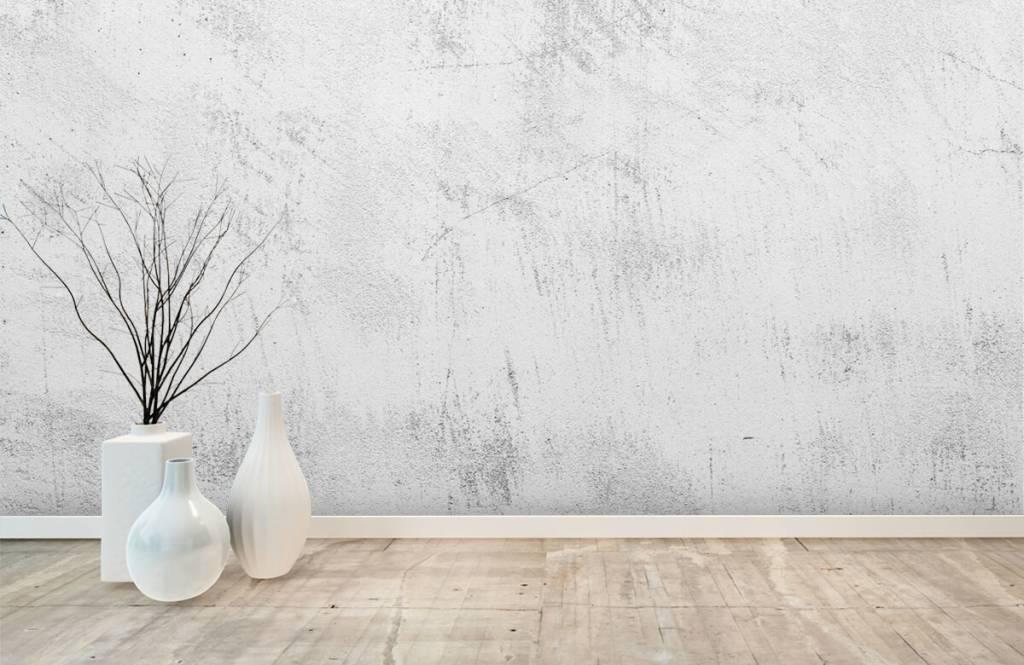 Concrete look wallpaper - Sanded concrete - Living room 8