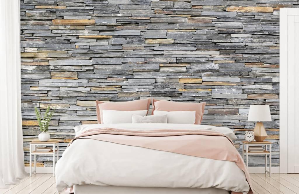 Stone wallpaper - Stacked stones - Bedroom 1