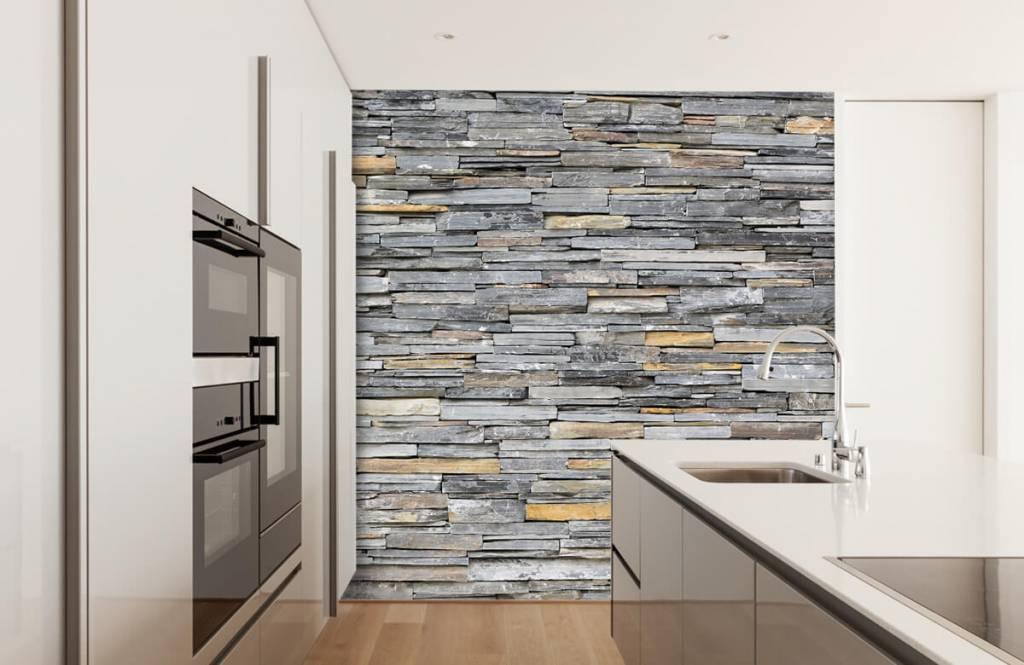Stone wallpaper - Stacked stones - Bedroom 3