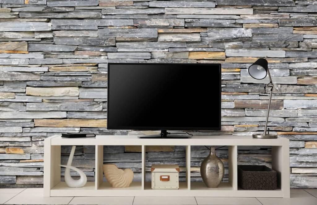 Stone wallpaper - Stacked stones - Bedroom 4