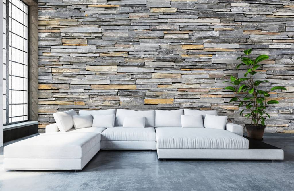 Stone wallpaper - Stacked stones - Bedroom 5