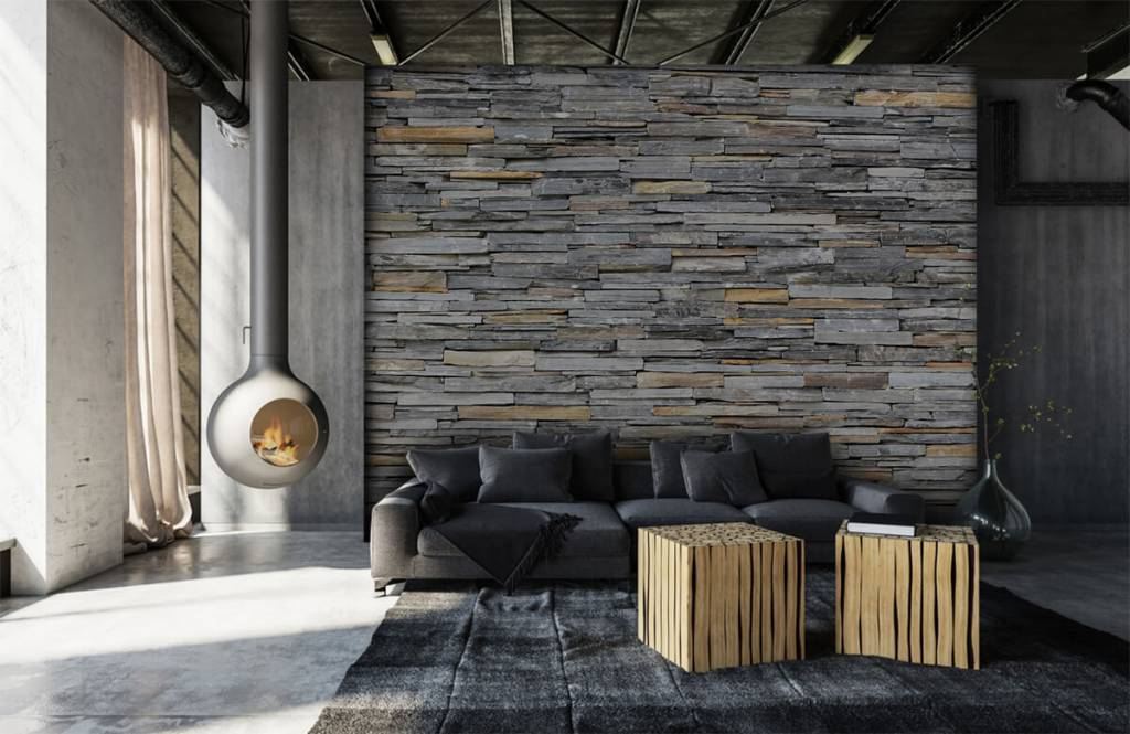Stone wallpaper - Stacked stones - Bedroom 6