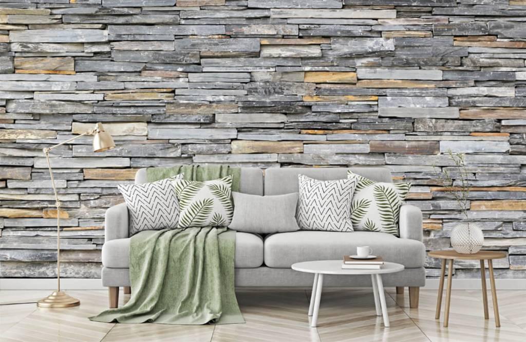 Stone wallpaper - Stacked stones - Bedroom 7
