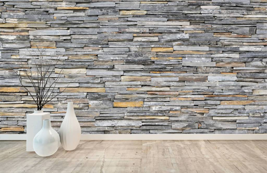 Stone wallpaper - Stacked stones - Bedroom 8