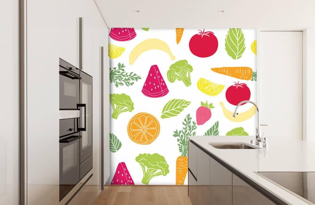 Other - Getekend groente en fruit - Kitchen 1