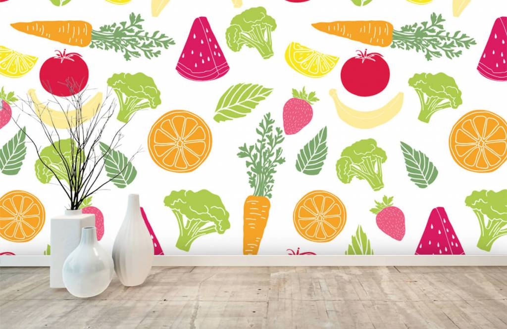 Other - Getekend groente en fruit - Kitchen 6
