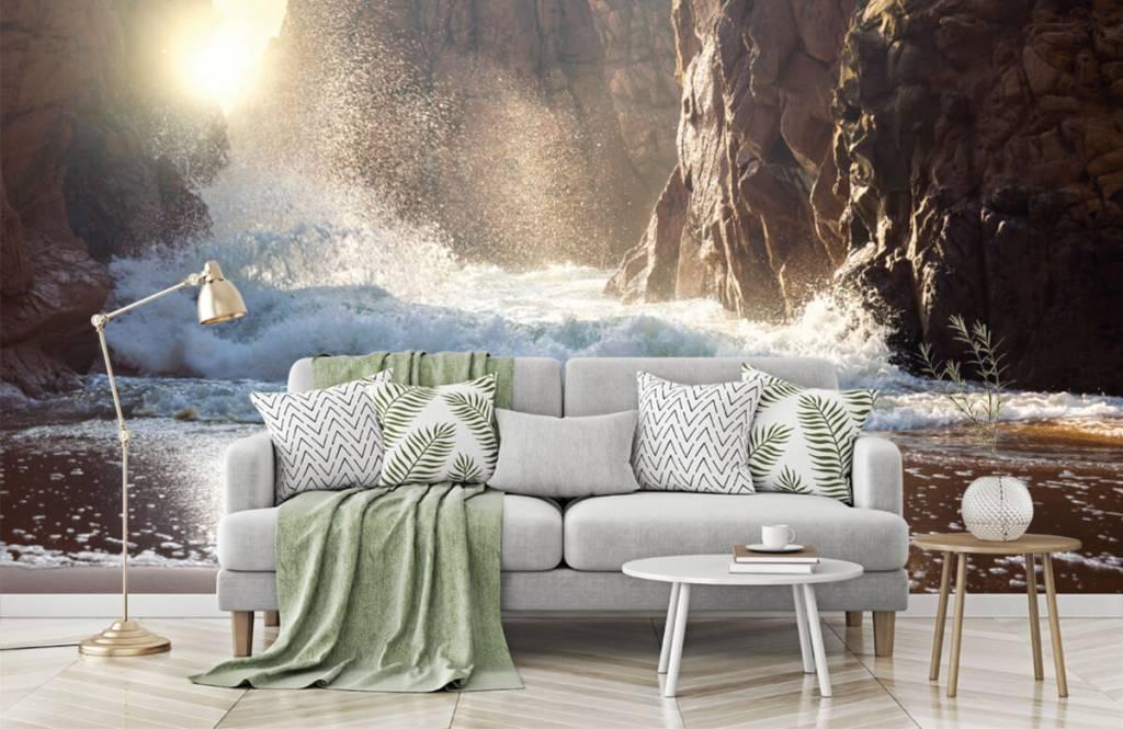 Seas and Oceans - Waves against rocks - Sales department 2