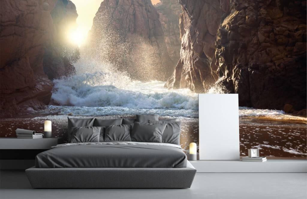 Seas and Oceans - Waves against rocks - Sales department 3