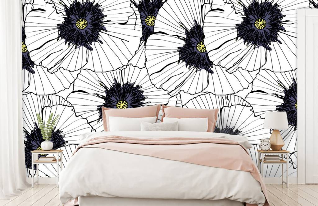 Patterns for Kidsroom - Graphic poppies - Bedroom 1