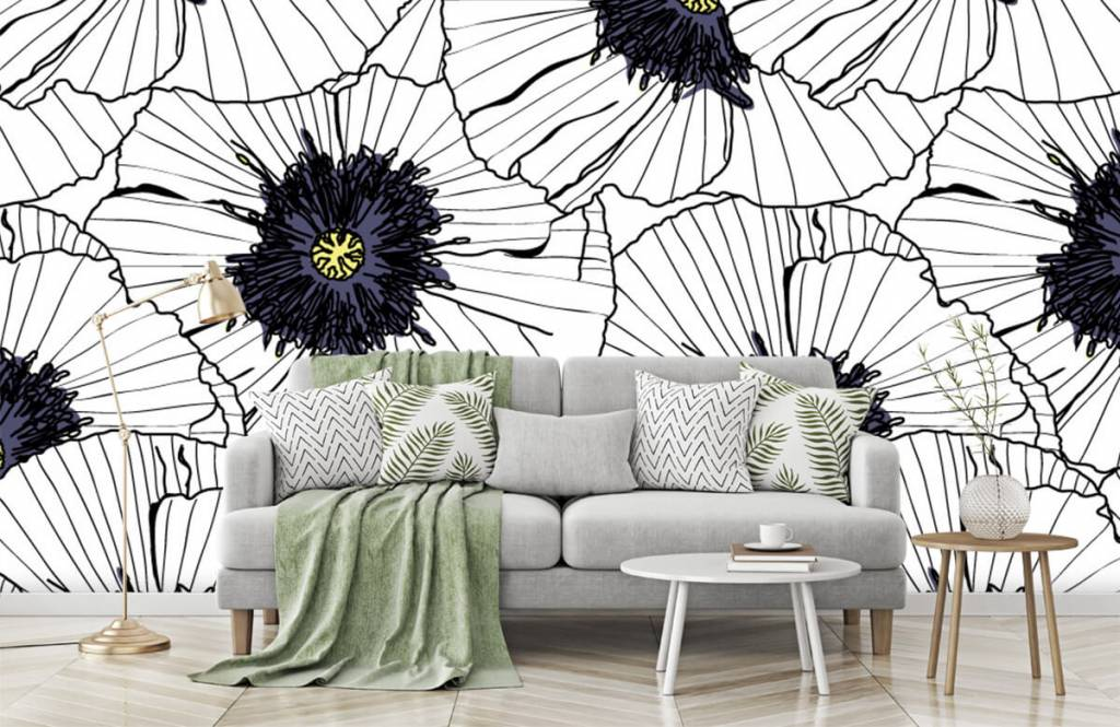 Patterns for Kidsroom - Graphic poppies - Bedroom 7