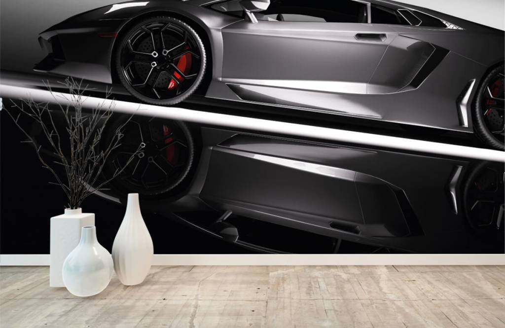 Transportation - Grey Lamborghini - Teenage room 1