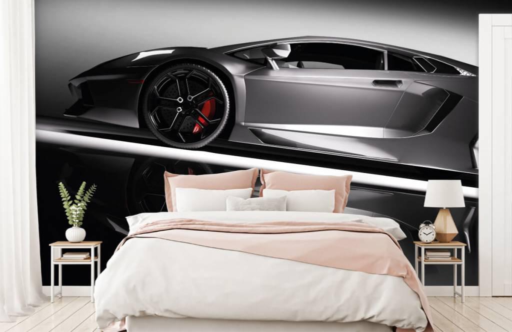 Transportation - Grey Lamborghini - Teenage room 3