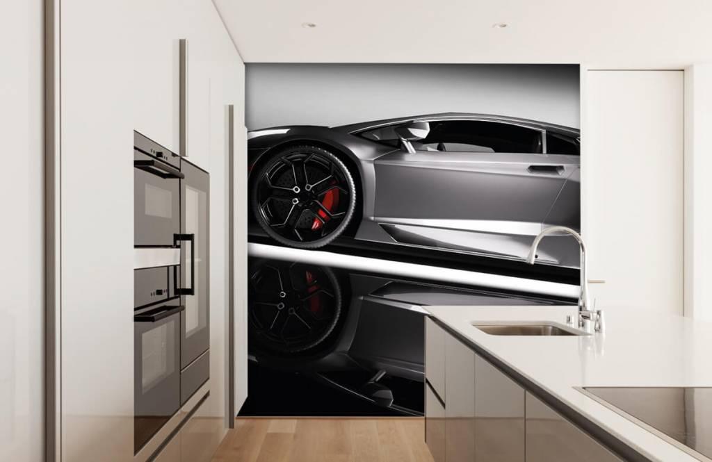 Transportation - Grey Lamborghini - Teenage room 5
