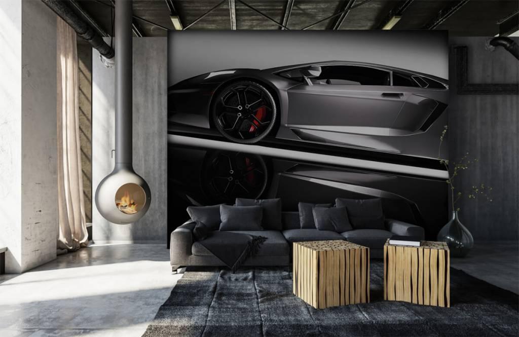 Transportation - Grey Lamborghini - Teenage room 7