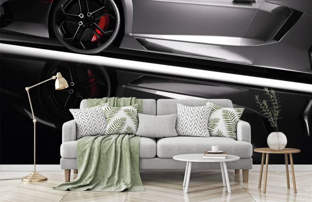 Transportation - Grey Lamborghini - Teenage room 8