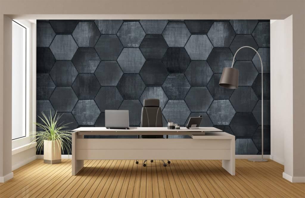 Stone wallpaper - Grey stone hexagons - Warehouse 5