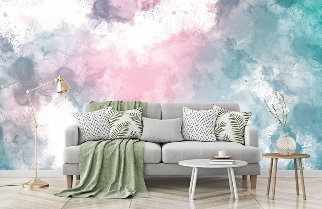 Abstract - Green pink smoke - Teenage room 2