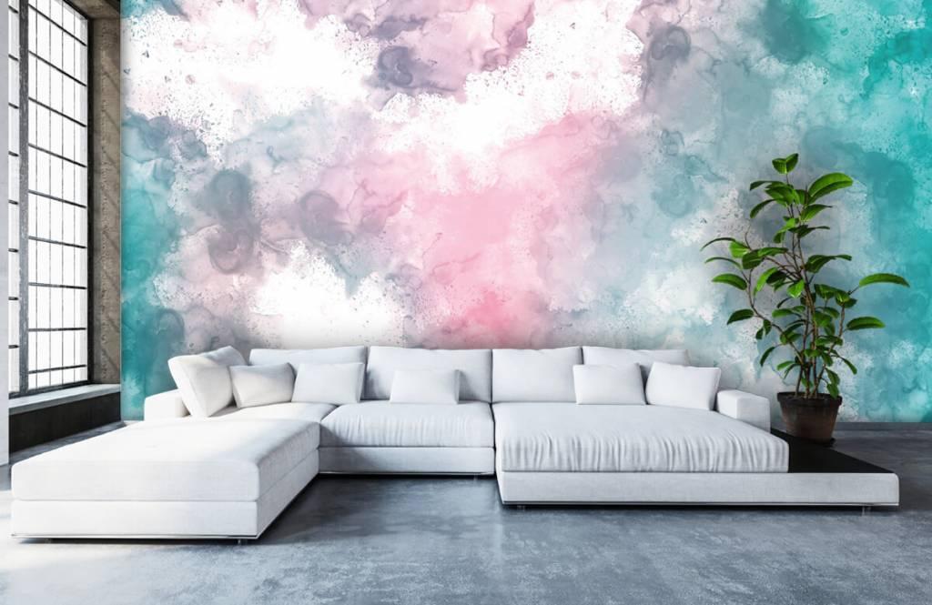 Abstract - Green pink smoke - Teenage room 3