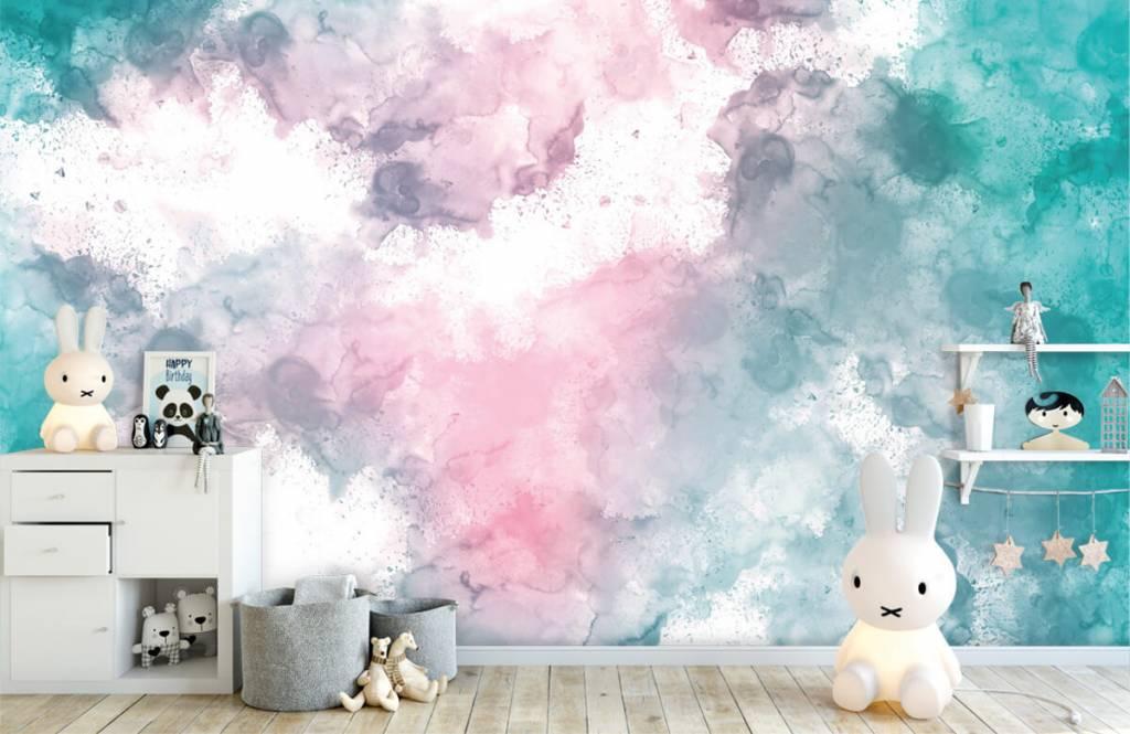 Abstract - Green pink smoke - Teenage room 5
