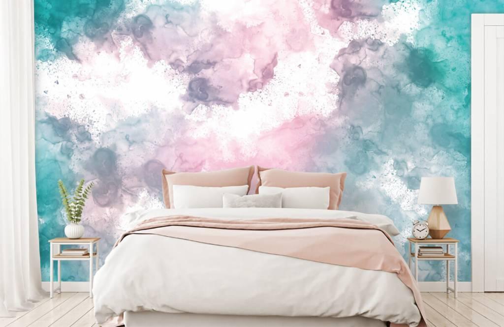 Abstract - Green pink smoke - Teenage room 6
