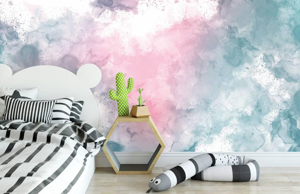 Abstract - Green pink smoke - Teenage room 7