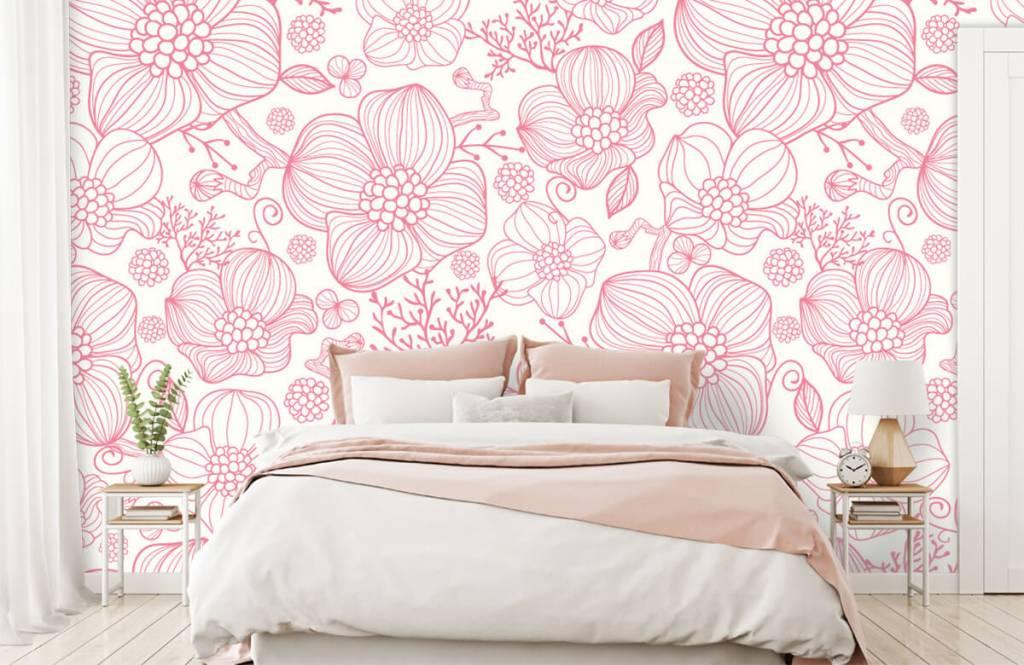 Patterns for Kidsroom - Large pink flowers - Bedroom 1