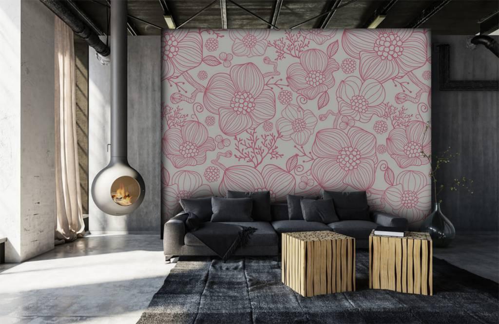 Patterns for Kidsroom - Large pink flowers - Bedroom 6