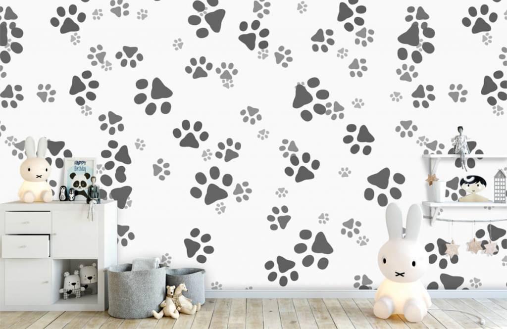 Children's wallpaper - Dog legs - Children's room 1