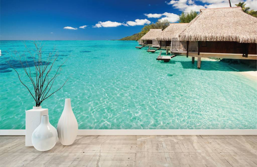 Beach wallpaper - Cottages in the Maldives - Hobby room 1