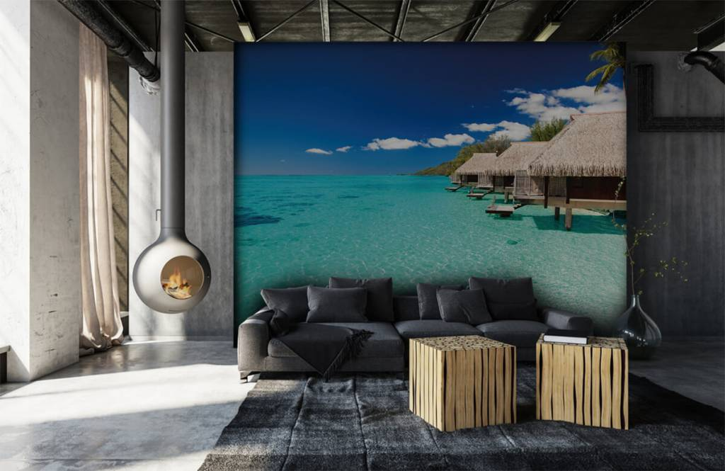 Beach wallpaper - Cottages in the Maldives - Hobby room 2