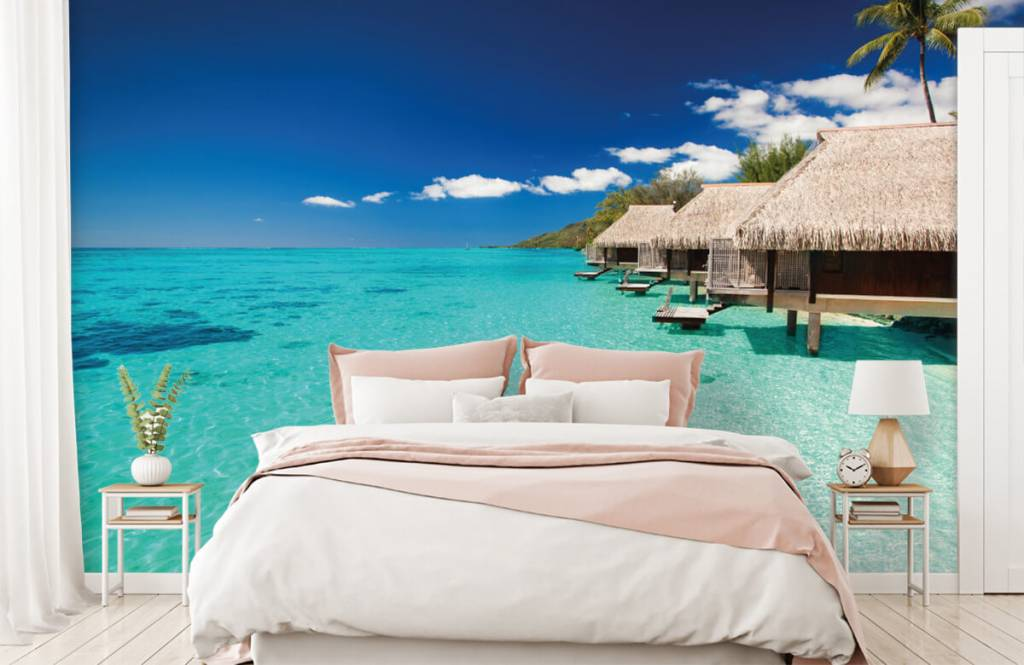 Beach wallpaper - Cottages in the Maldives - Hobby room 3