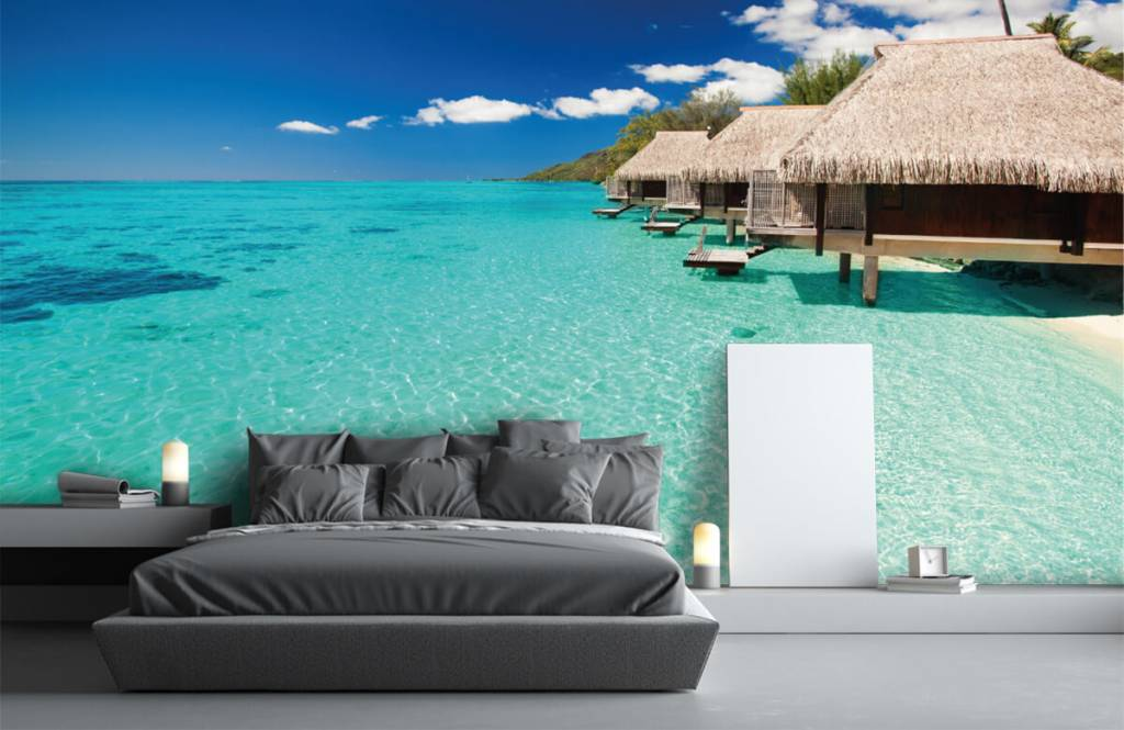 Beach wallpaper - Cottages in the Maldives - Hobby room 4