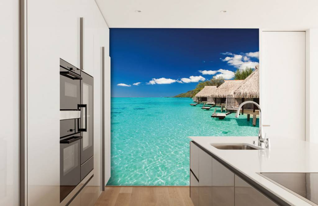 Beach wallpaper - Cottages in the Maldives - Hobby room 5