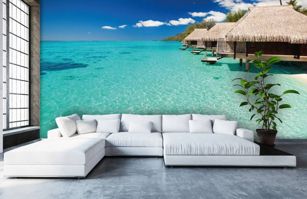 Beach wallpaper - Cottages in the Maldives - Hobby room 7