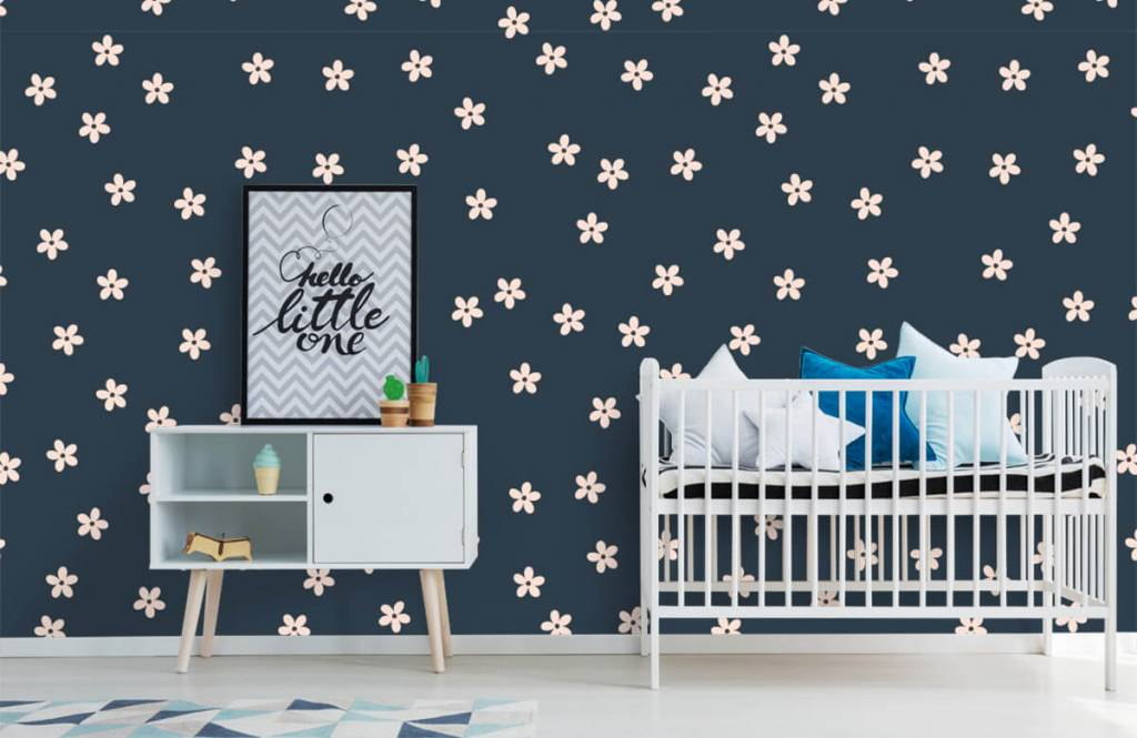 Patterns for Kidsroom - Small pink flowers - Children's room 1