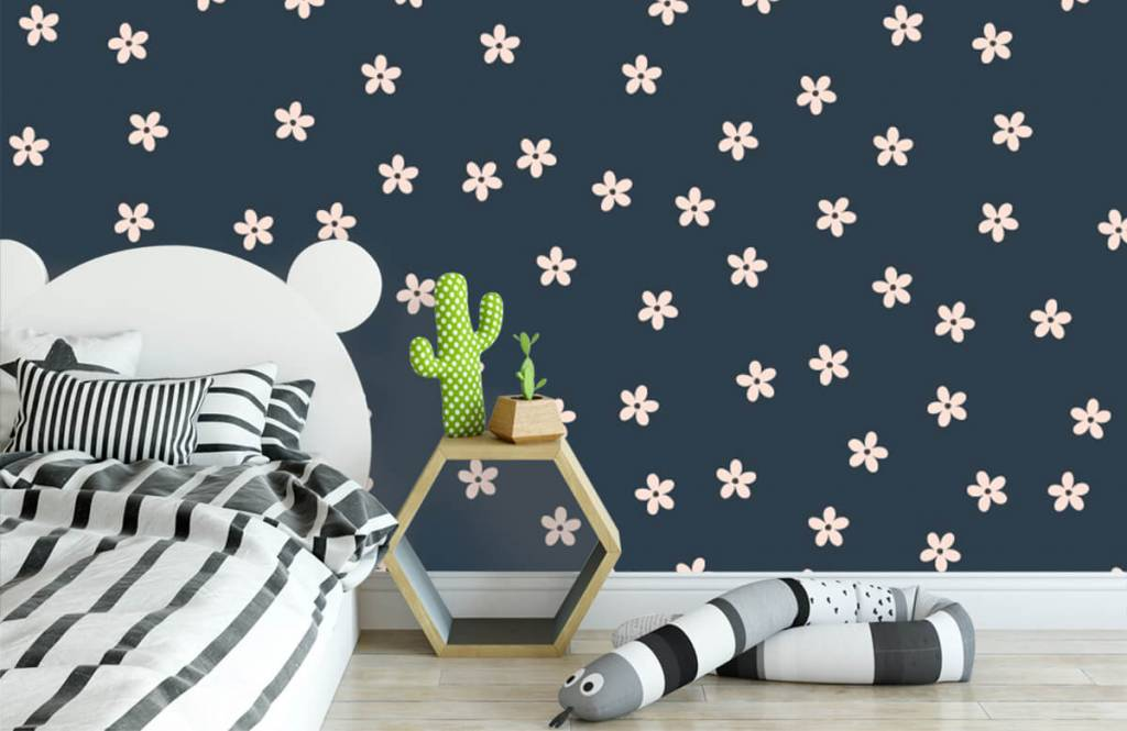 Patterns for Kidsroom - Small pink flowers - Children's room 3