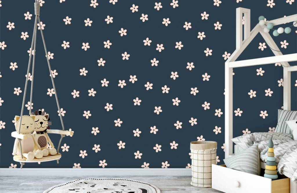 Patterns for Kidsroom - Small pink flowers - Children's room 4